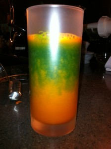 green and orange juice